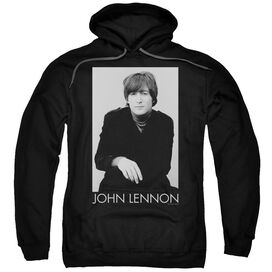 John Lennon Ex Beatle Adult Pull Over Hoodie Black