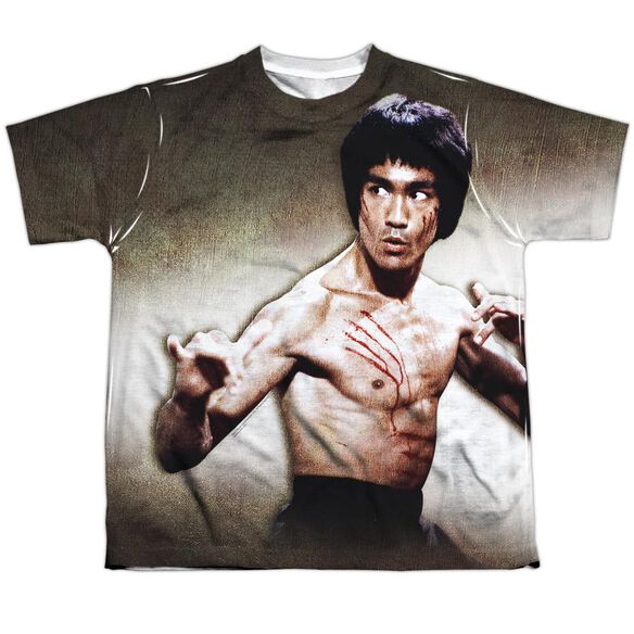 Bruce Lee Scratched Short Sleeve Youth Poly Crew T-Shirt