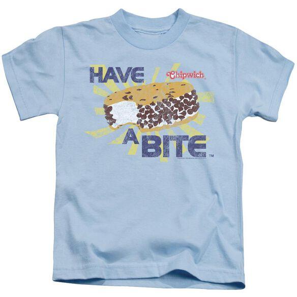 Chipwich Bite Short Sleeve Juvenile Light Blue T-Shirt