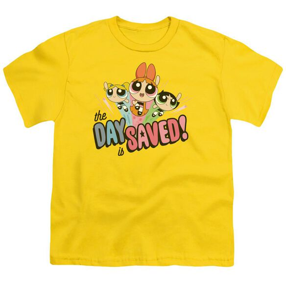 Powerpuff Girls The Day Is Saved Short Sleeve Youth T-Shirt