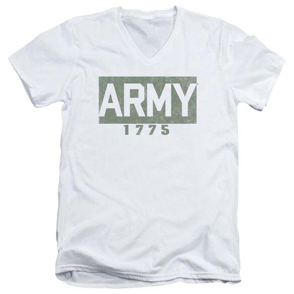 Army Block Short Sleeve Adult V Neck T-Shirt