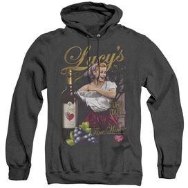 I Love Lucy Bitter Grapes - Adult Heather Hoodie - Black