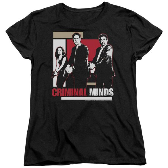 Criminal Minds Guns Drawn Short Sleeve Womens Tee T-Shirt