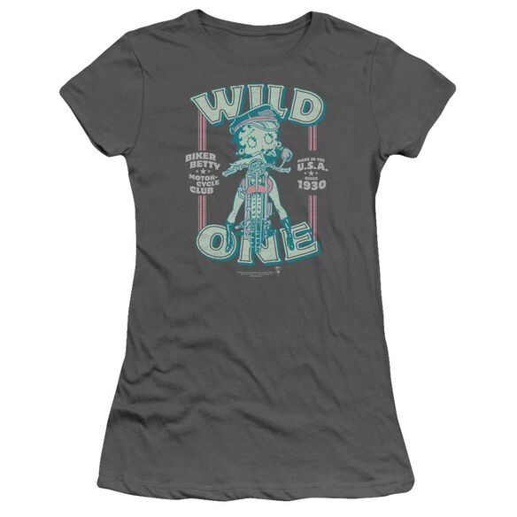 Betty Boop Wild One Short Sleeve Junior Sheer T-Shirt