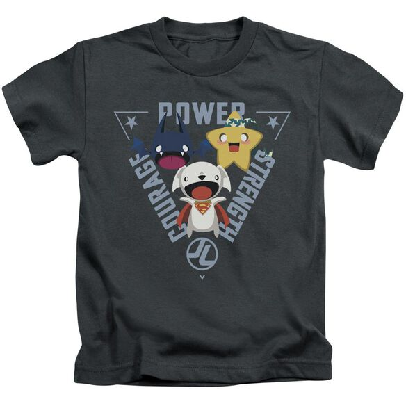 Jla Power Trio Short Sleeve Juvenile T-Shirt