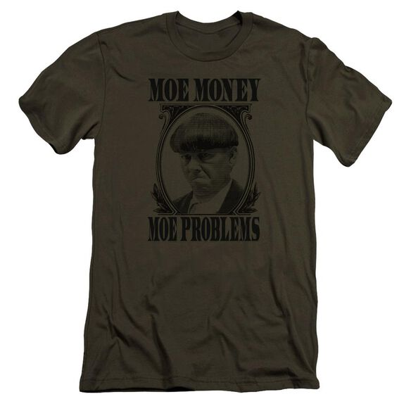 Three Stooges Moe Money Premuim Canvas Adult Slim Fit Military