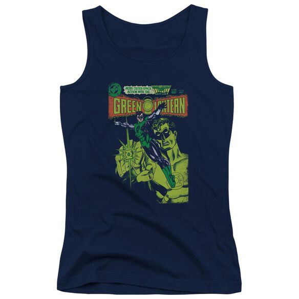 Green Lantern Vintage Cover - Juniors Tank Top - Navy