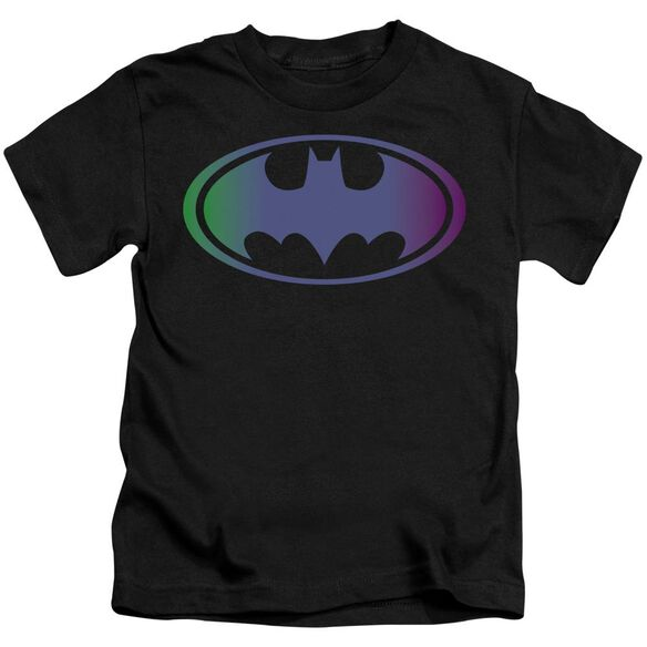 Batman Gradient Bat Logo Short Sleeve Juvenile Black T-Shirt