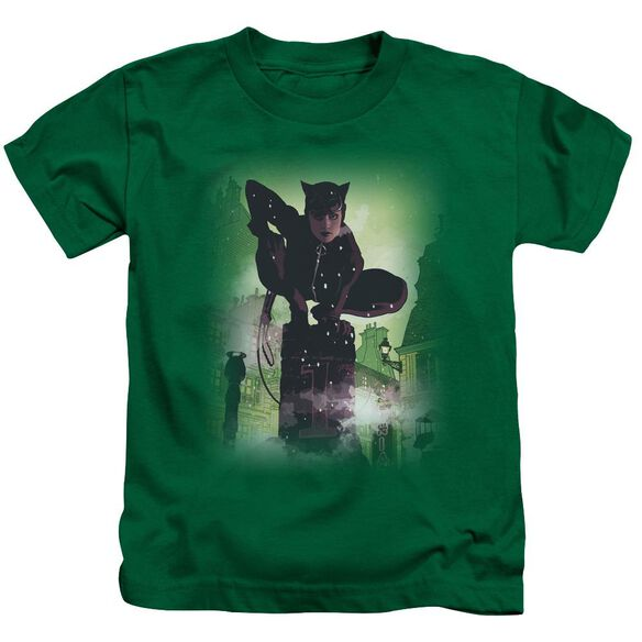 Batman Catwoman #63 Cover Short Sleeve Juvenile Kelly Green Md T-Shirt