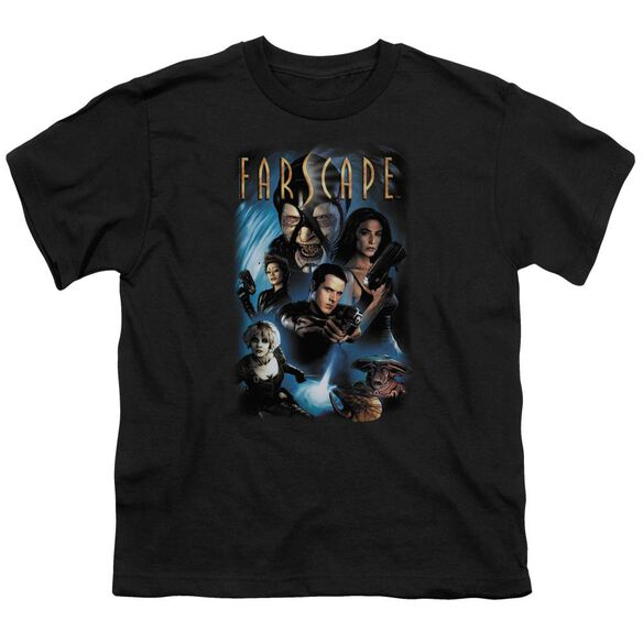 FARSCAPE COMIC COVER - S/S YOUTH 18/1 - BLACK T-Shirt