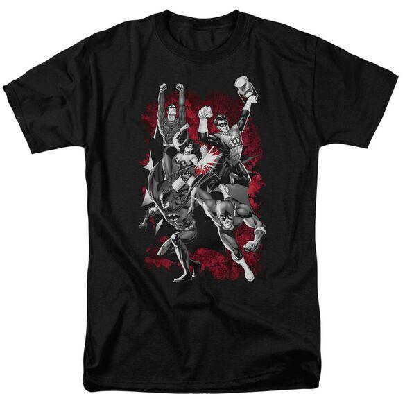 Jla Jla Explosion Short Sleeve Adult T-Shirt