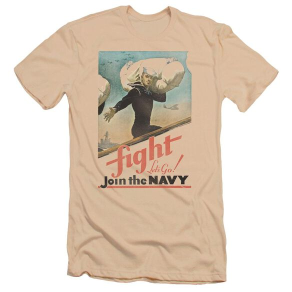 Navy Fight Let's Go Premuim Canvas Adult Slim Fit