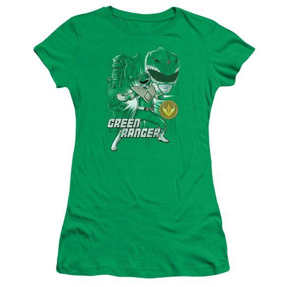 Power Rangers Ranger Short Sleeve Junior Sheer Kelly T-Shirt