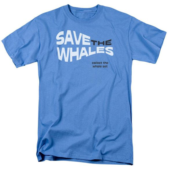 Save The Whales Short Sleeve Adult Carolina Blue T-Shirt