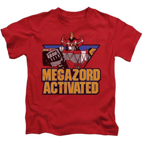 Power Rangers Megazord Activated Short Sleeve Juvenile Red T-Shirt