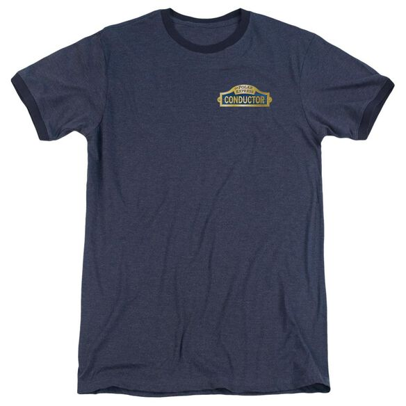 Polar Express Conductor Adult Heather Ringer Navy
