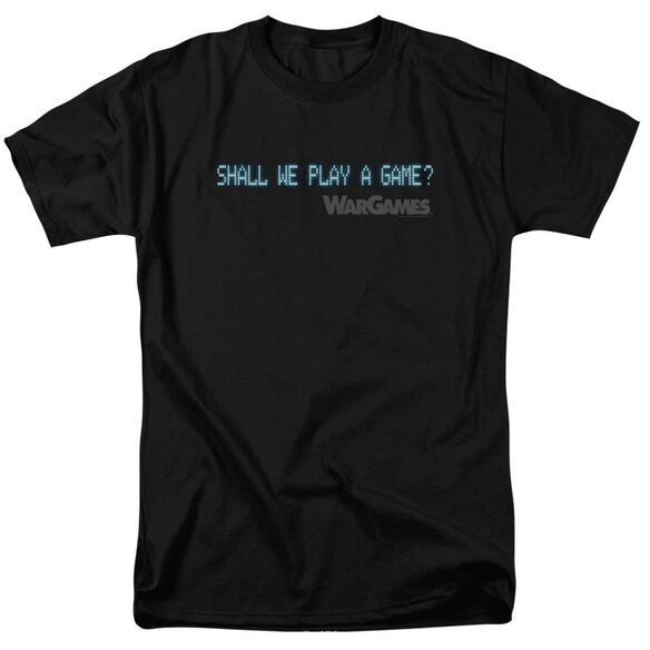 Wargames Shall We Short Sleeve Adult T-Shirt