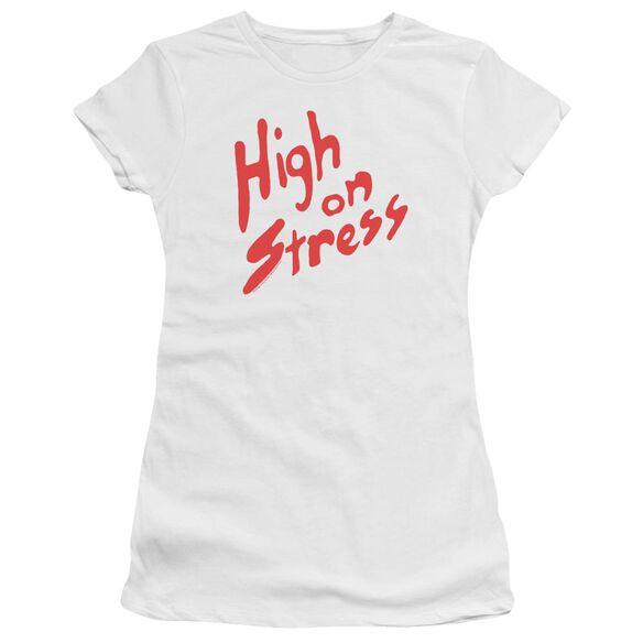 Revenge Of The Nerds High On Stress Premium Bella Junior Sheer Jersey