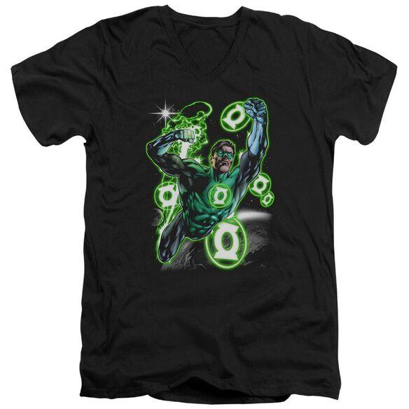 Green Lantern Earth Sector Short Sleeve Adult V Neck T-Shirt