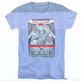 BATMAN COLDEST MAN - S/S WOMENS TEE - CAROLINA BLUE T-Shirt