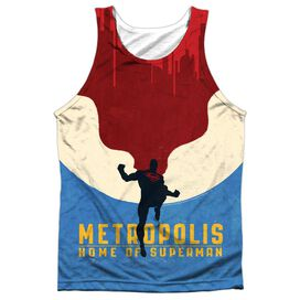 Superman Home Adult 100% Poly Tank Top