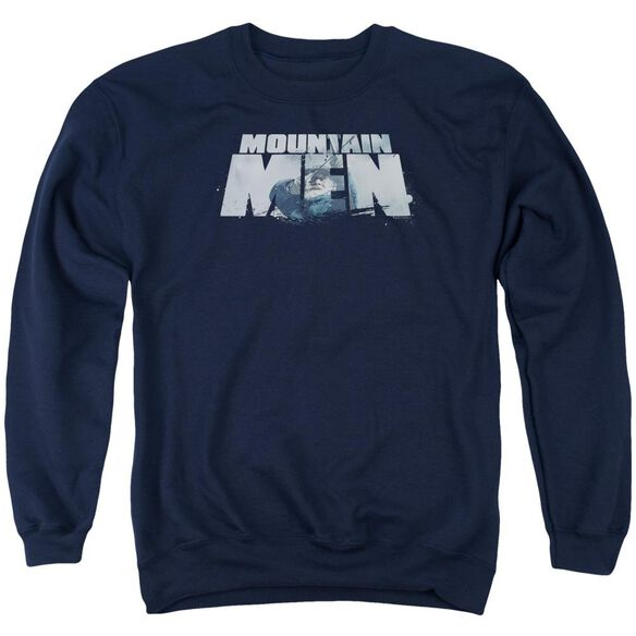 Mountain Men Live For A Living Adult Crewneck Sweatshirt