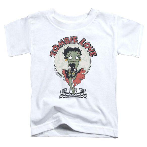 Betty Boop Breezy Zombie Love Short Sleeve Toddler Tee White T-Shirt
