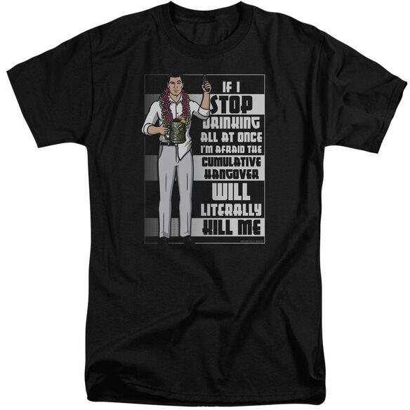 Archer Killer Hangover Short Sleeve Adult Tall T-Shirt