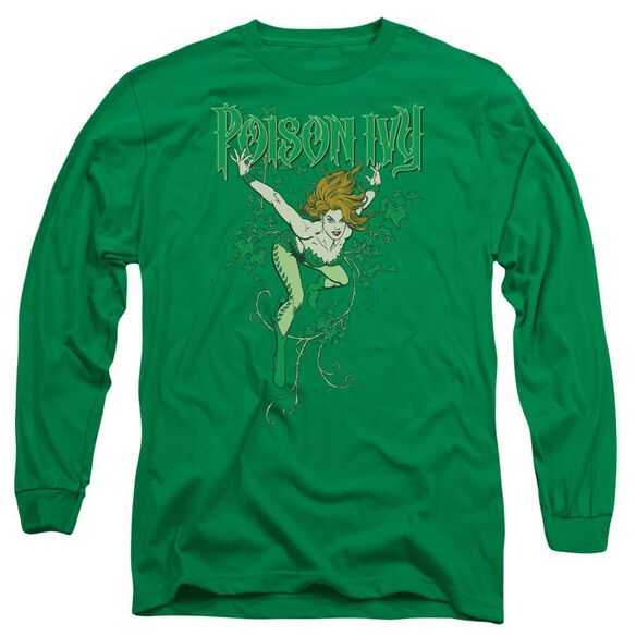 Dc Poison Ivy Long Sleeve Adult Kelly T-Shirt