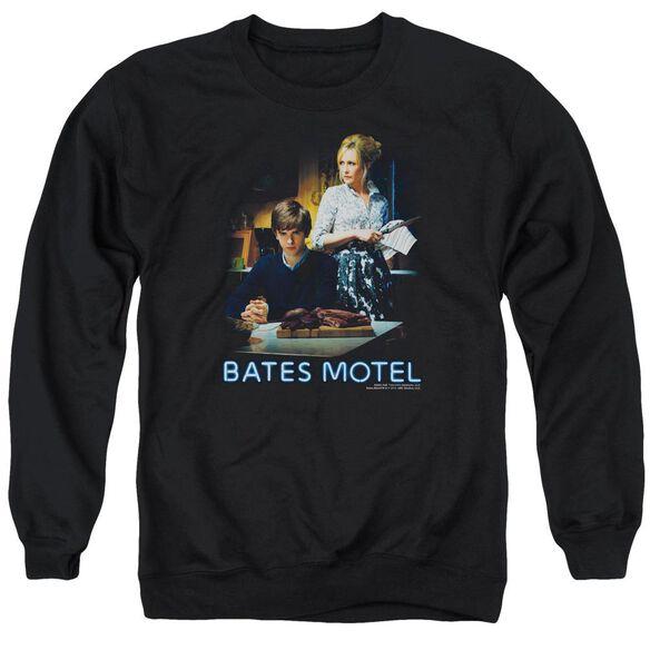 Bates Motel Die Alone Adult Crewneck Sweatshirt