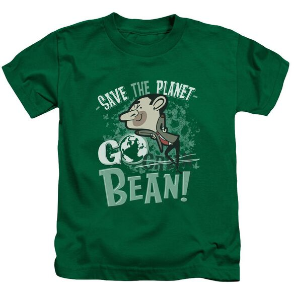 Mr Bean Go Bean Short Sleeve Juvenile Kelly Green T-Shirt