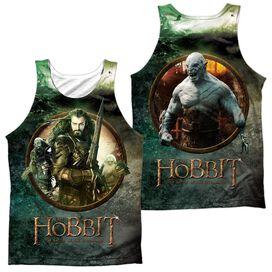 Hobbit Dwarves Vs Azog (Front Back) Adult 100% Poly Tank Top