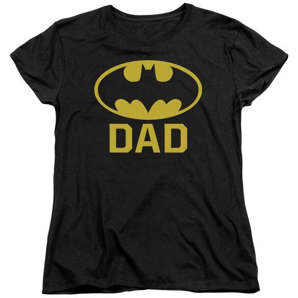 Batman Bat Dad Short Sleeve Womens Tee T-Shirt