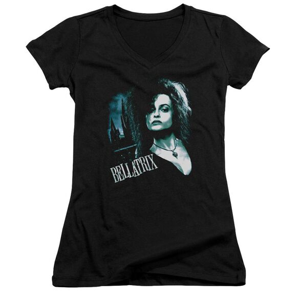 Harry Potter Bellatrix Closeup Junior V Neck T-Shirt