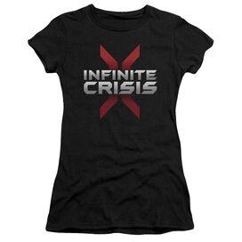 Infinite Crisis Logo Short Sleeve Junior Sheer T-Shirt