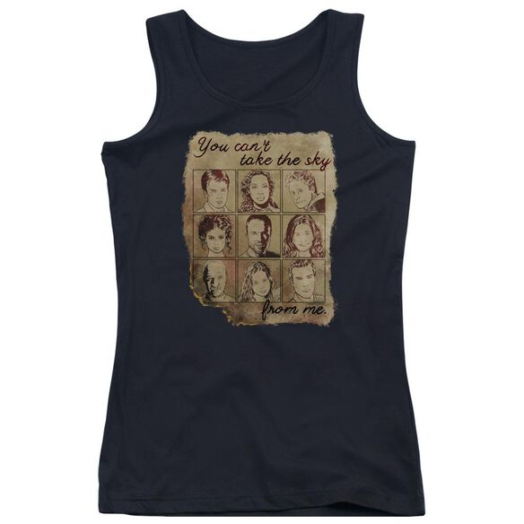 Firefly Burned Poster Juniors Tank Top