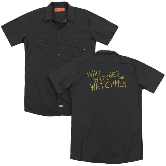 Watchmen Who Watches (Back Print) Adult Work Shirt