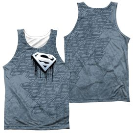 Superman Drip And Repeat Adult 100% Poly Tank Top
