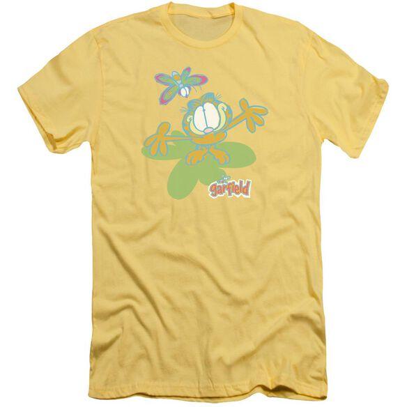 Garfield Butterfly Short Sleeve Adult T-Shirt
