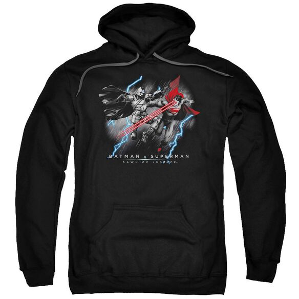 Batman V Superman Lightning V Heat Vision Adult Pull Over Hoodie