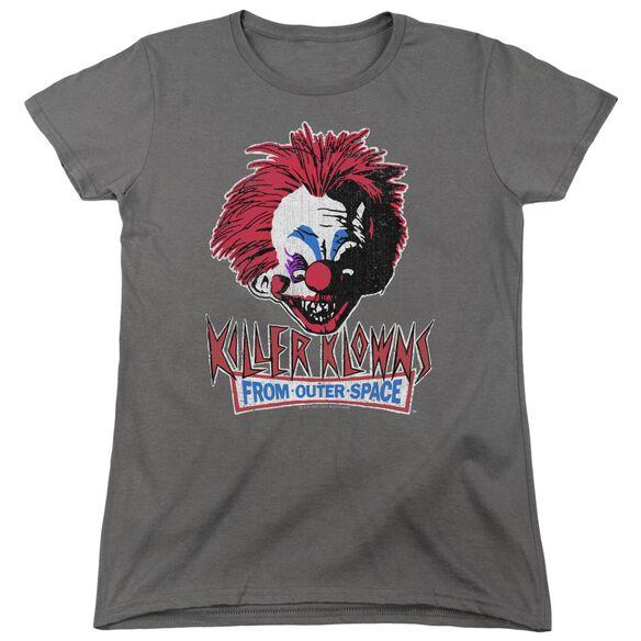 Killer Klowns From Outer Space Rough Clown Short Sleeve Womens Tee T-Shirt