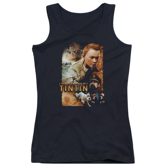 Tintin Adventure Poster Juniors Tank Top
