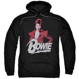David Bowie Diamond David Adult Pull Over Hoodie
