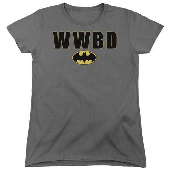 Batman Wwbd Logo Short Sleeve Womens Tee T-Shirt