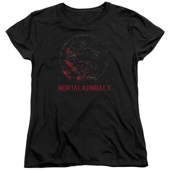 Mortal Kombat Bloody Seal Short Sleeve Womens Tee T-Shirt