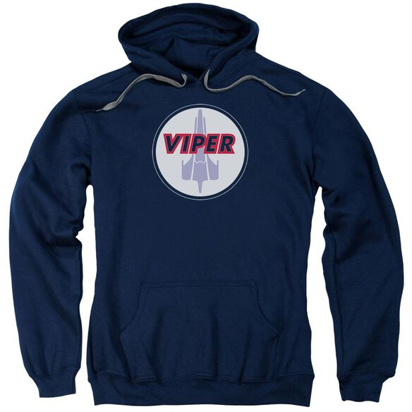 Bsg Viper Badge Adult Pull Over Hoodie