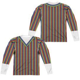 Sesame Street Bert Costume (Front Back Print) Long Sleeve Adult Poly Crew T-Shirt