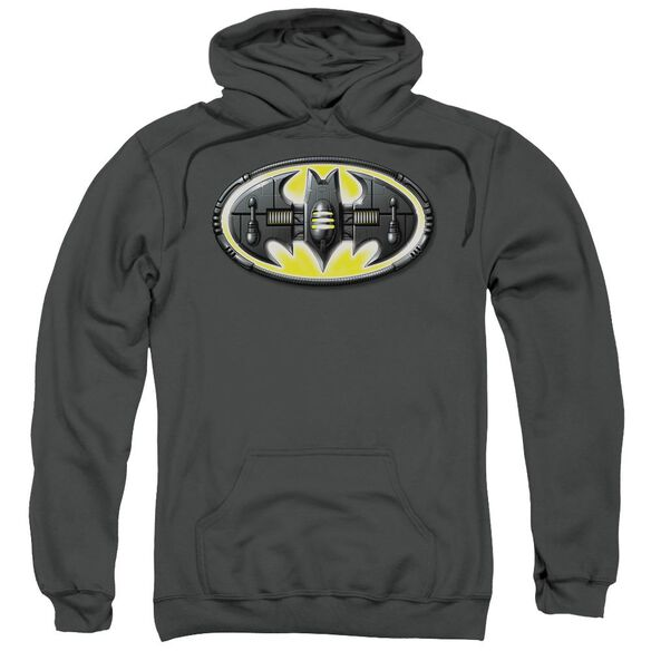 Batman Bat Mech Logo Adult Pull Over Hoodie