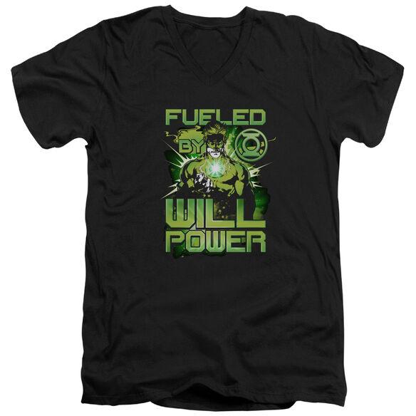 GREEN LANTERN FUELED - S/S ADULT V-NECK - BLACK T-Shirt