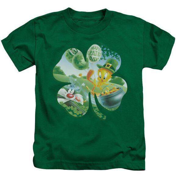 Looney Tunes Tweety Shamrock Short Sleeve Juvenile Kelly T-Shirt